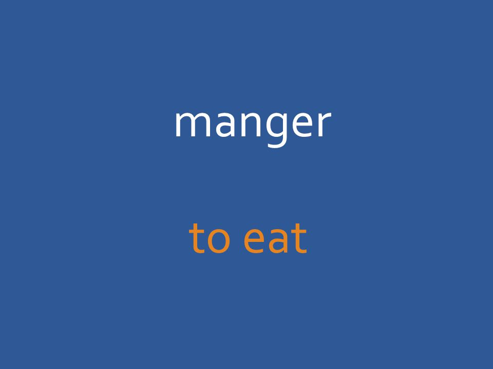 manger to eat