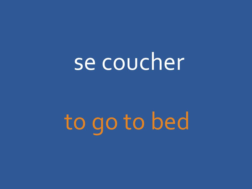 se coucher to go to bed