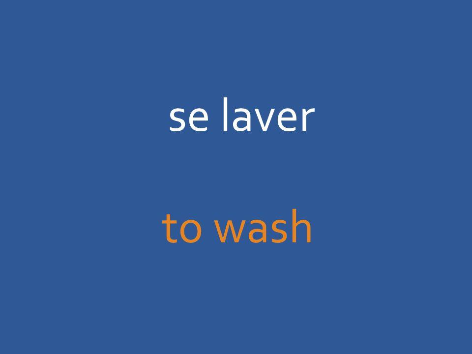 se laver to wash
