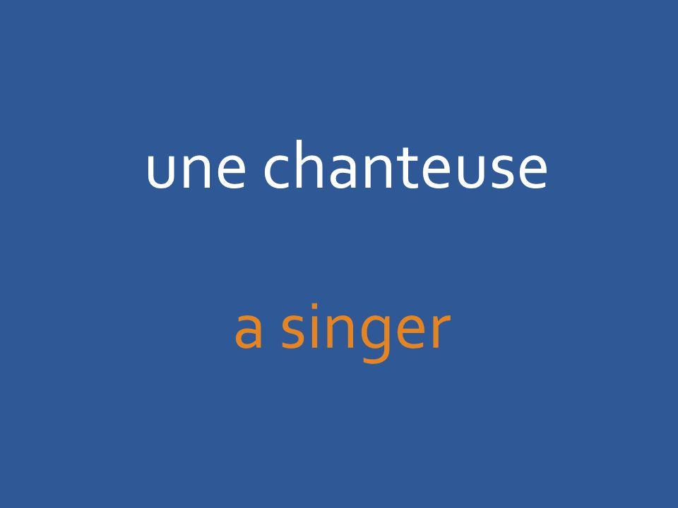 une chanteuse a singer