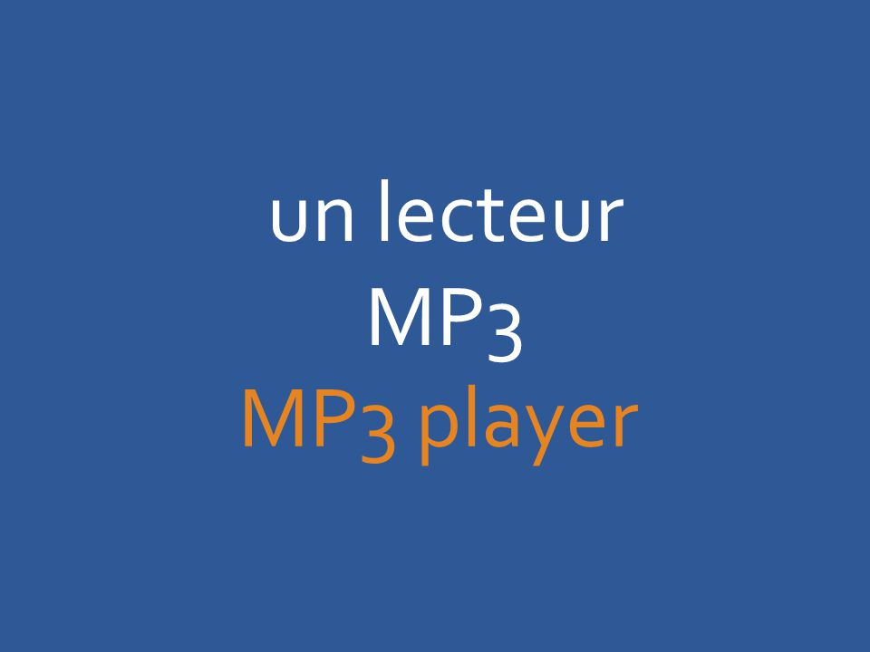 un lecteur MP3 MP3 player