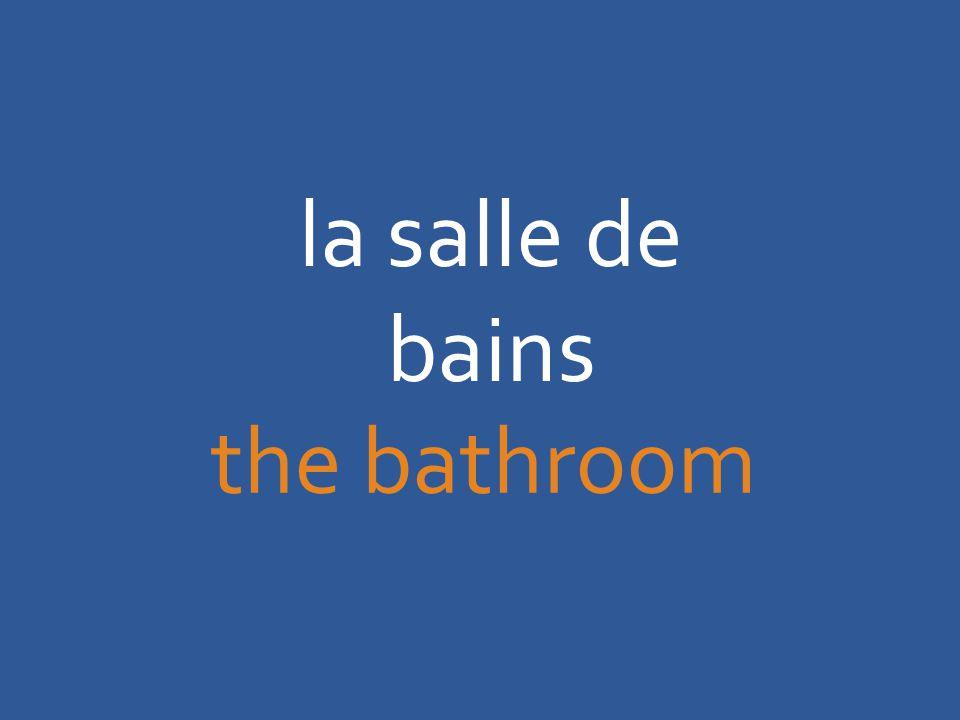 la salle de bains the bathroom