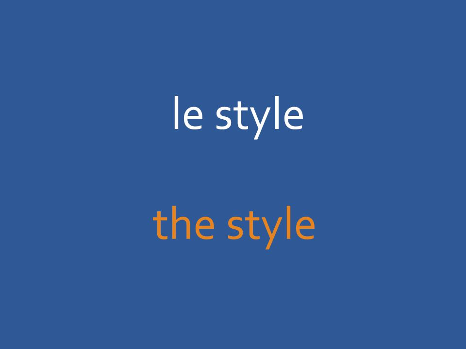 le style the style