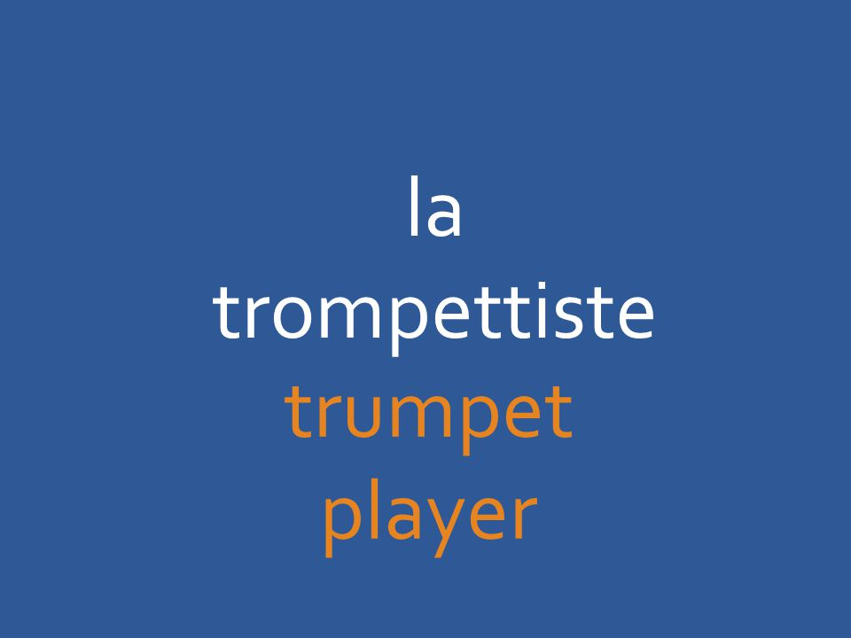 la trompettiste trumpet player