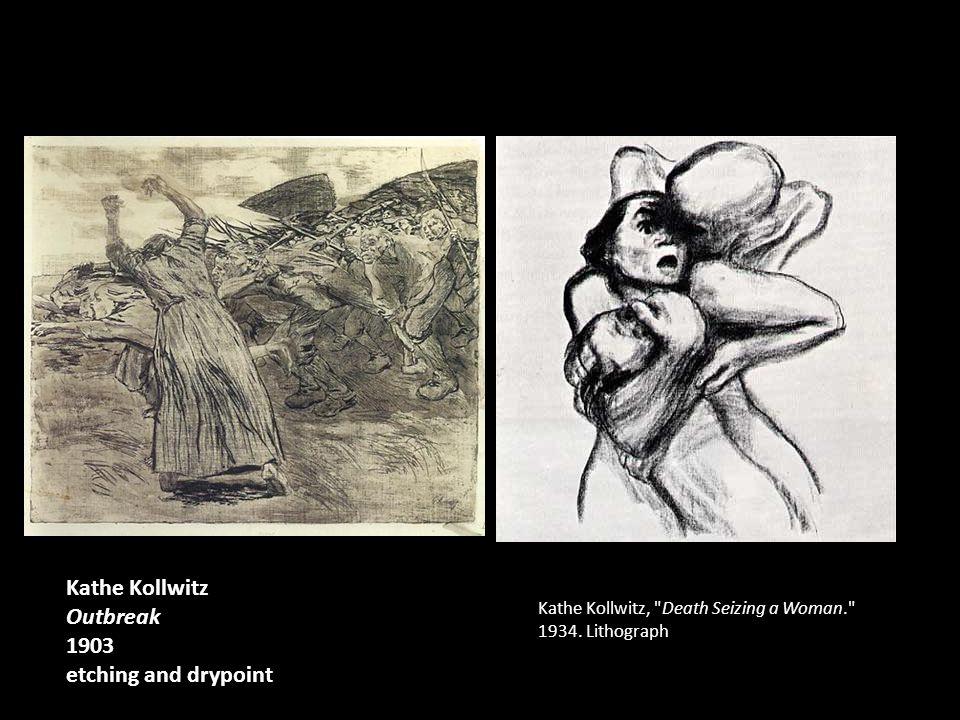 Kathe Kollwitz, Death Seizing a Woman. 1934.