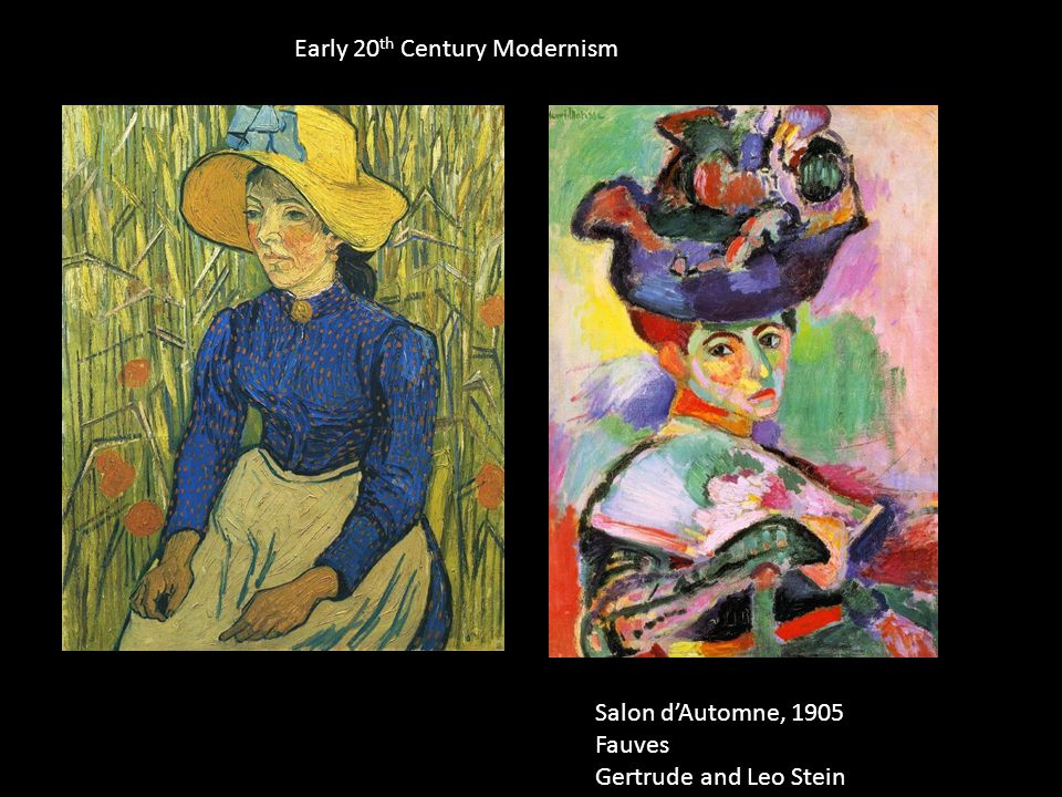Early 20 th Century Modernism Salon d'Automne, 1905 Fauves Gertrude and Leo Stein