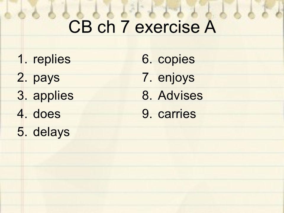 Homework Finish unit 3 CB chapter 3 exercise C & F CB chapter 8