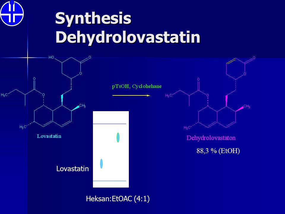 Synthesis Dehydrolovastatin 88,3 % (EtOH) Heksan:EtOAC (4:1) Lovastatin