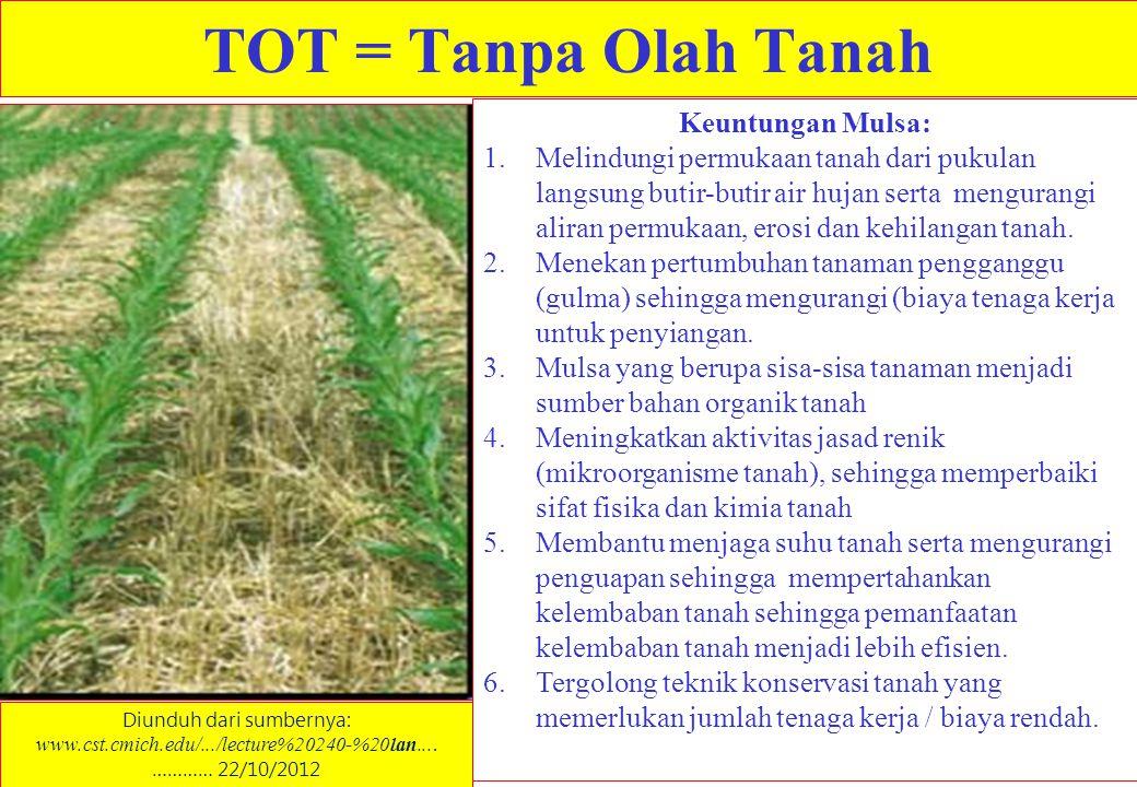 TOT = Tanpa Olah Tanah Diunduh dari sumbernya: www.cst.cmich.edu/.../lecture%20240-%20lan....