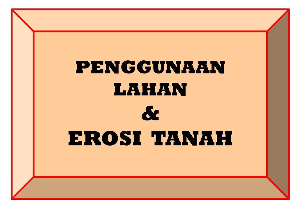 PENGGUNAAN LAHAN & EROSI TANAH