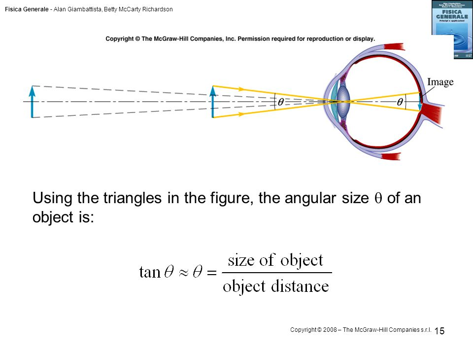 Fisica Generale - Alan Giambattista, Betty McCarty Richardson Copyright © 2008 – The McGraw-Hill Companies s.r.l. 15 Using the triangles in the figure