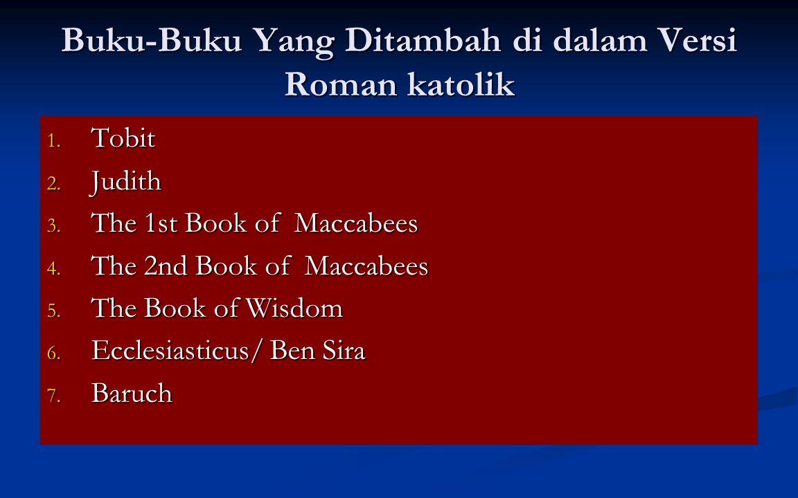 Buku-Buku Yang Ditambah di dalam Versi Roman katolik 1.