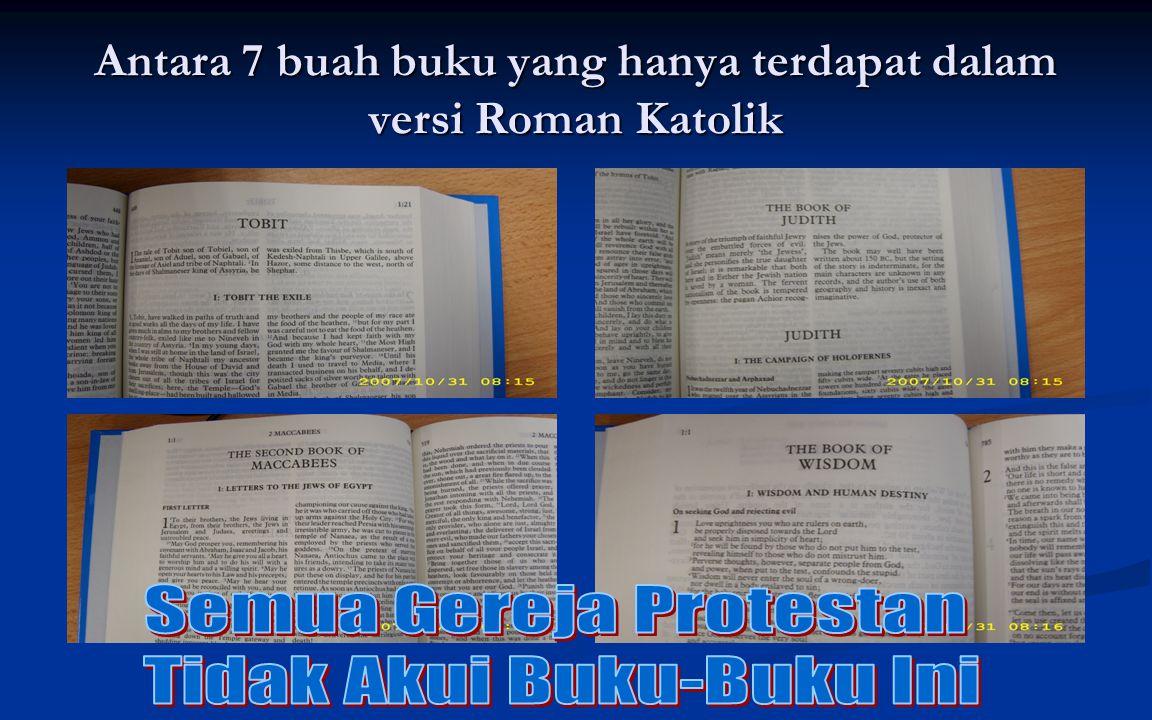 Antara 7 buah buku yang hanya terdapat dalam versi Roman Katolik