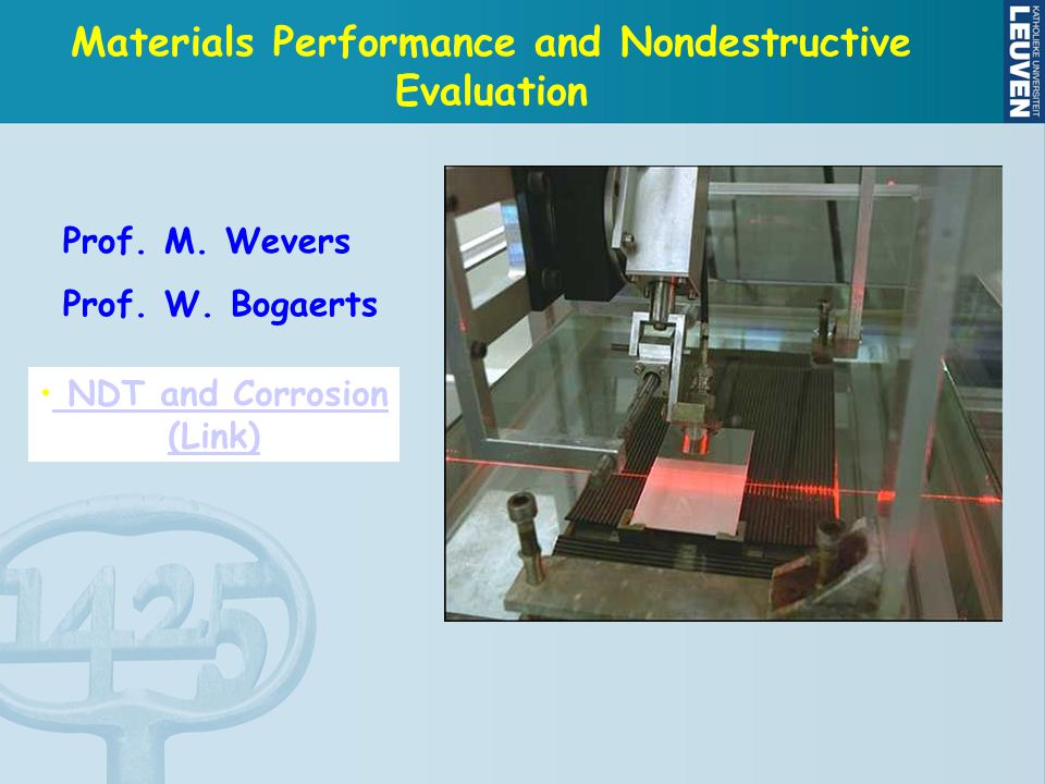 Materials Performance and Nondestructive Evaluation Prof.