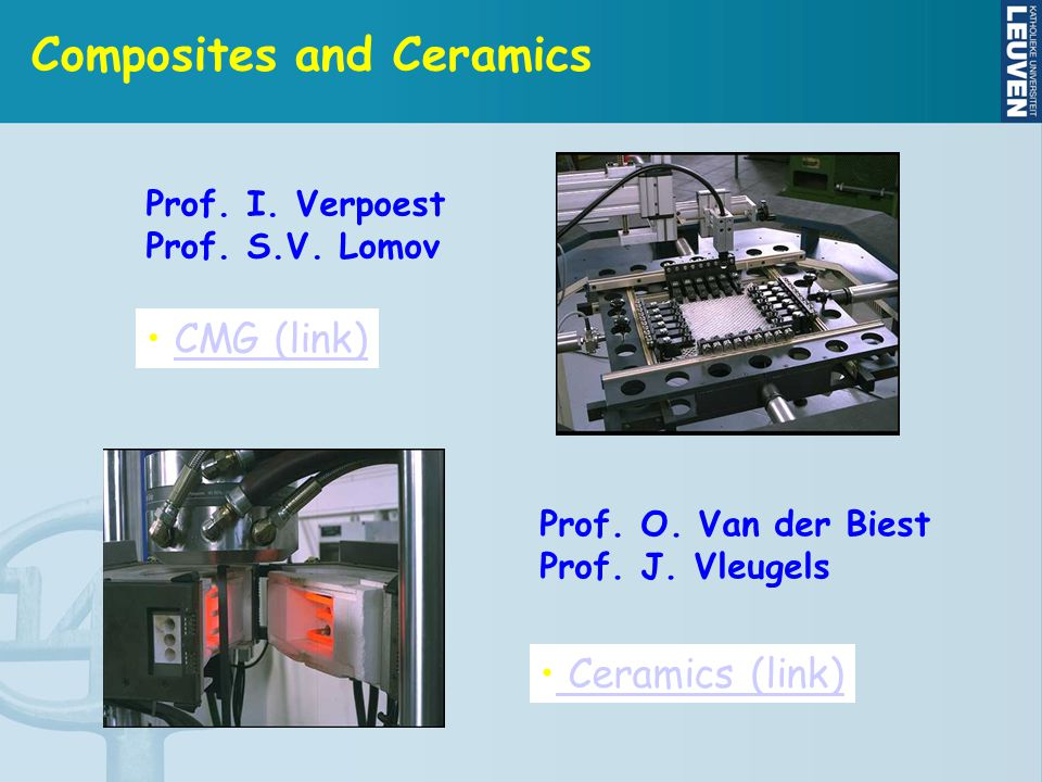 Composites and Ceramics CMG (link) CMG (link) Prof.