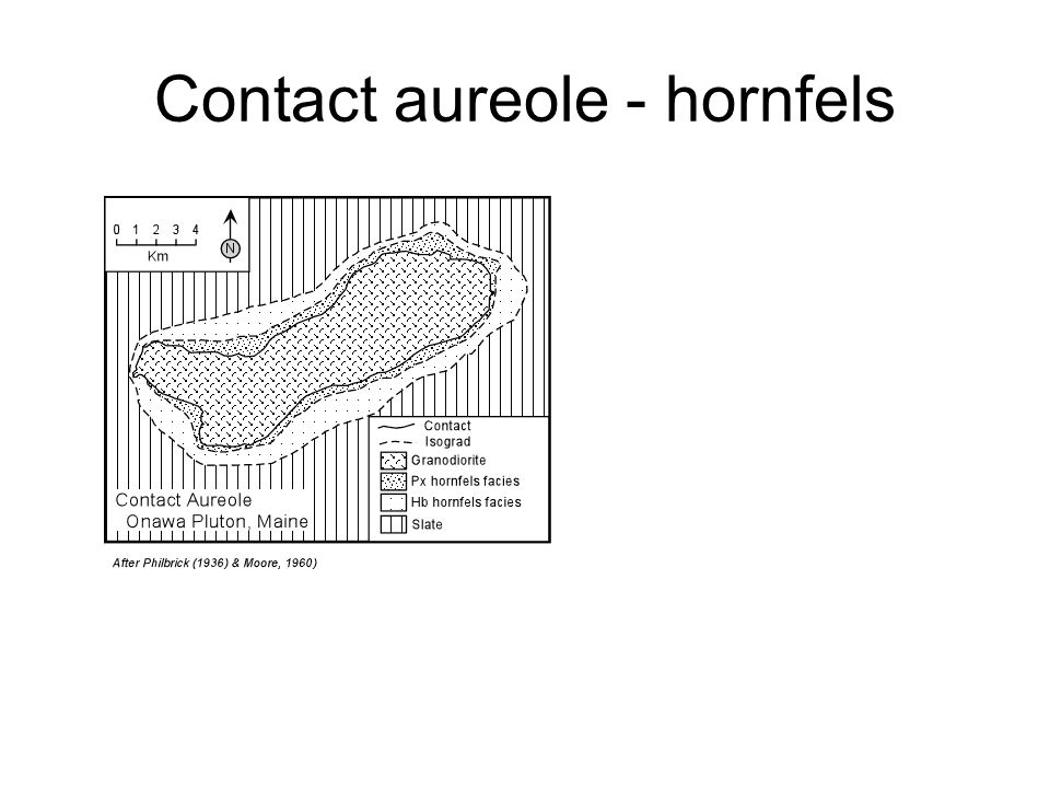 Contact aureole - hornfels