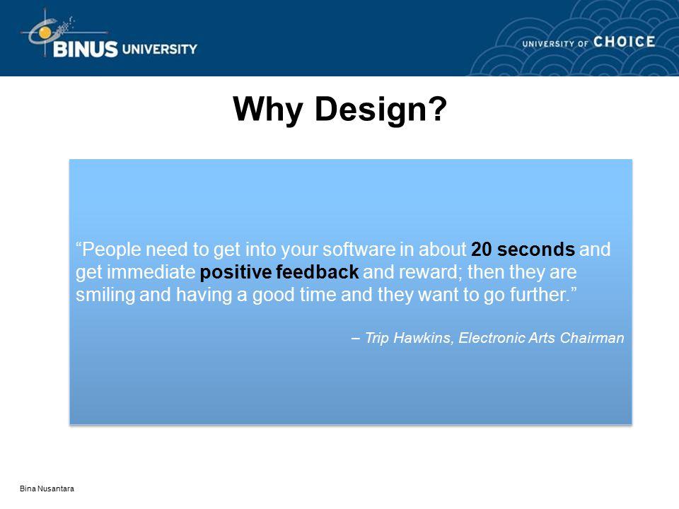 Bina Nusantara Why Design.