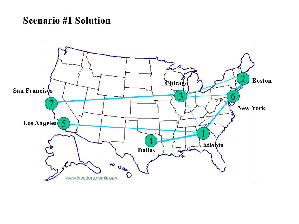 ATLBOSCHIDALLANYSF ATL-25002370288023002950- BOS--28602710-2740 CHI----- DAL---- LA--- NY-2540 SF- Scenario #3 Demand Matrix (DS3s)