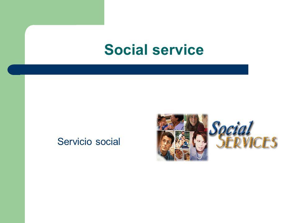 Social service Servicio social