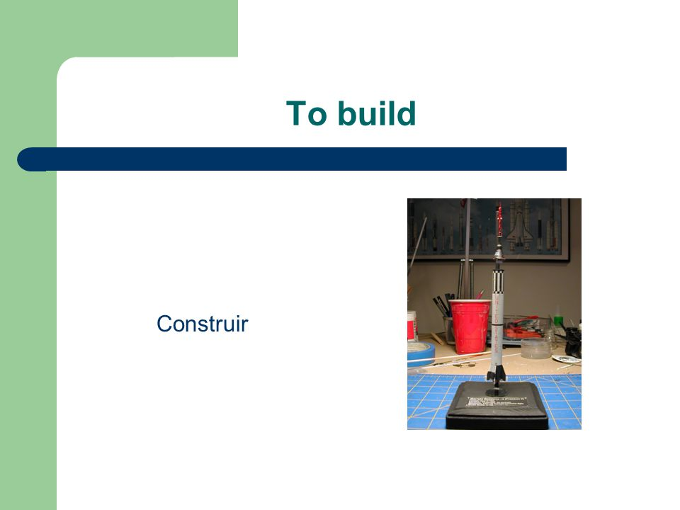 To build Construir