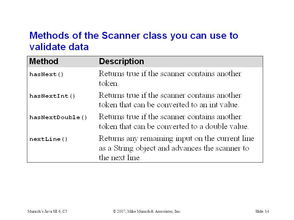 Murach's Java SE 6, C5© 2007, Mike Murach & Associates, Inc.Slide 14