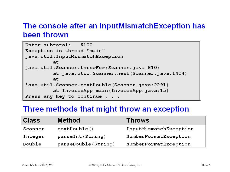 Murach's Java SE 6, C5© 2007, Mike Murach & Associates, Inc.Slide 6