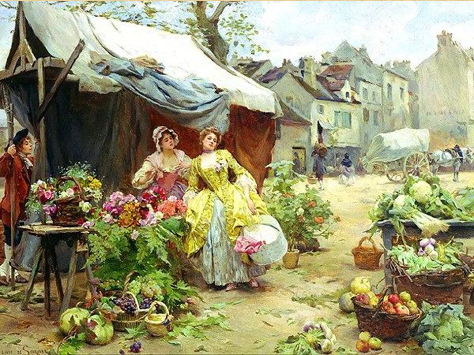 8 8 Louis Marie de Schryver Woman Buying flowers at a market