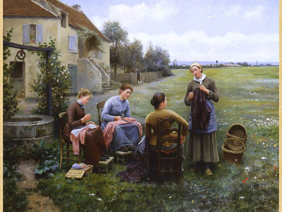 4 4 Daniel Ridgway Knight The sewing circle