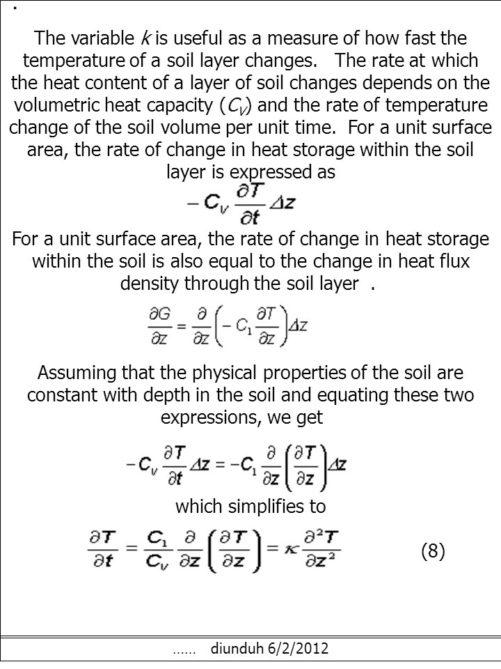 EFFECT OF SOIL MANAGEMENT ON THEIR THERMAL PROPERTIES.