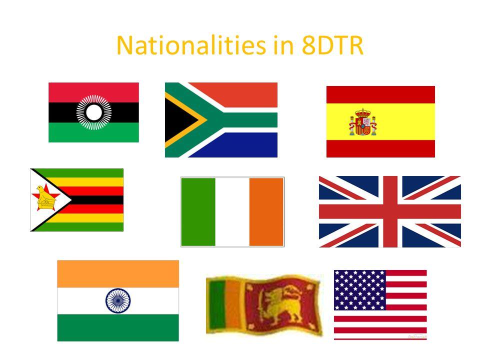 Nationalities in 8DTR