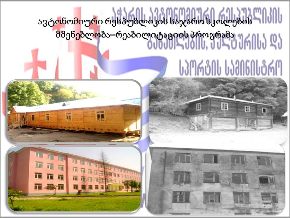 ავტონომიური რესპუბლიკის საჯარო სკოლების მშენებლობა – რეაბილიტაციის პროგრამა