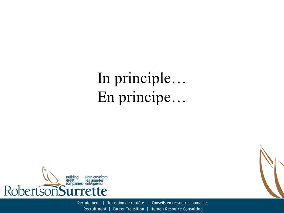 In principle… En principe…