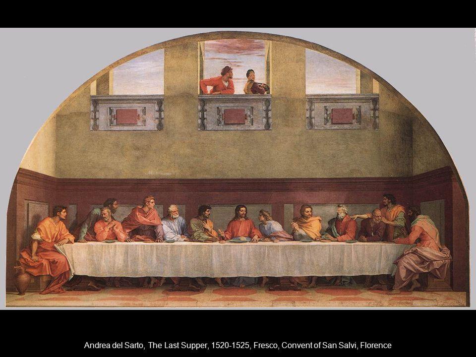 Andrea del Sarto, The Last Supper, 1520-1525, Fresco, Convent of San Salvi, Florence