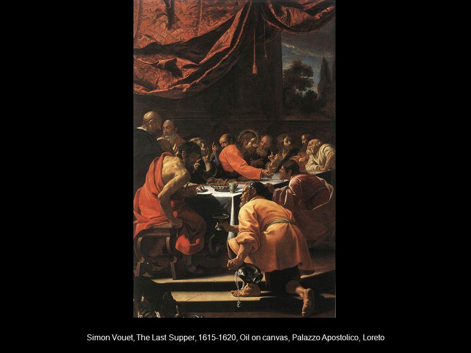 Simon Vouet, The Last Supper, 1615-1620, Oil on canvas, Palazzo Apostolico, Loreto