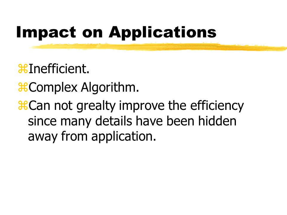 Impact on Kernel zLarge Kernel Size. zComplex Algorithm.