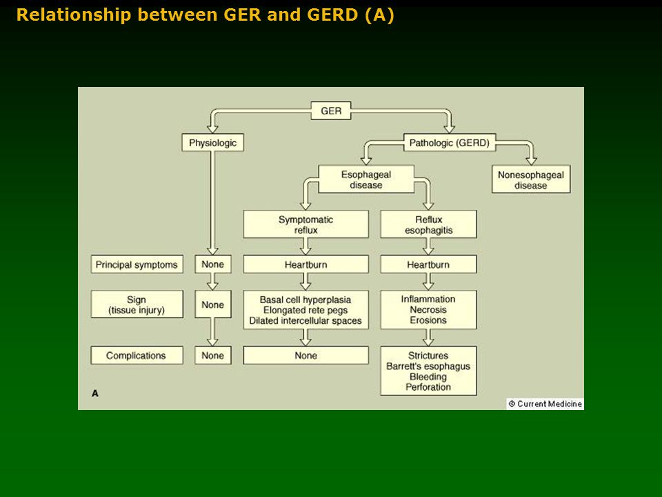 Relationship between GER and GERD (A)