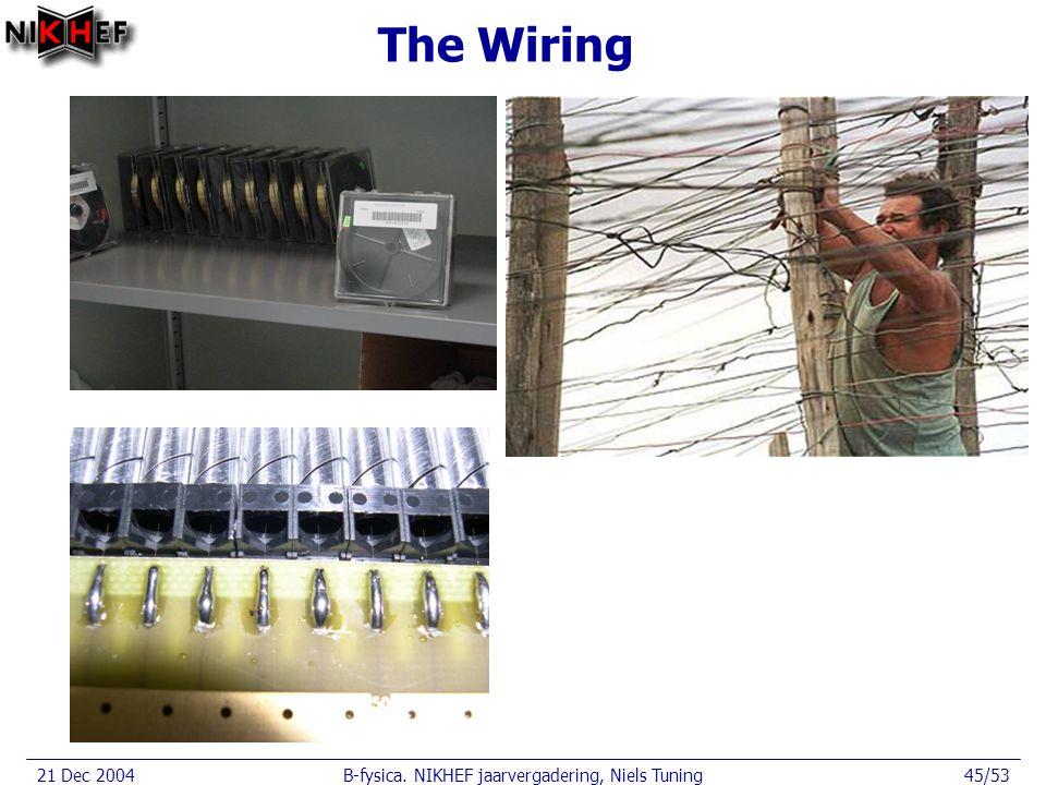21 Dec 2004B-fysica. NIKHEF jaarvergadering, Niels Tuning45/53 The Wiring
