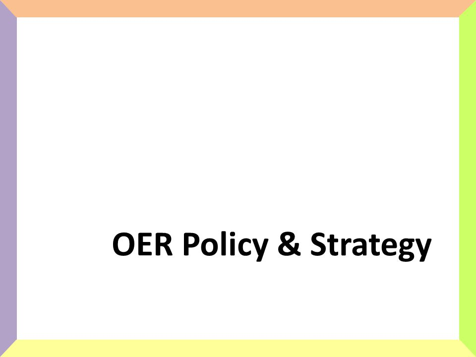 OER Policy & Strategy
