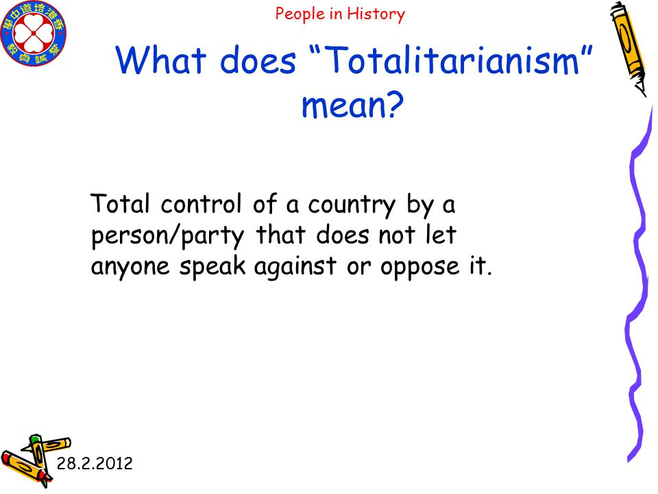 28.2.2012 Can you say the word below Totalitarianism