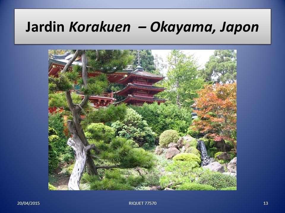 Jardin Zen Rock – Japon 20/04/201512RIQUET 77570
