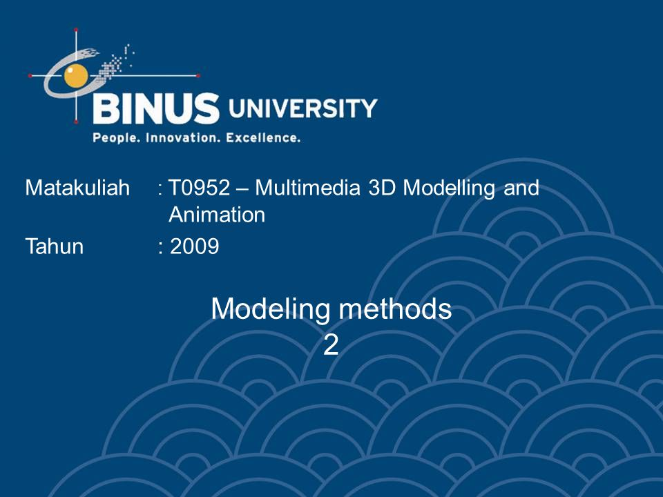 Bina Nusantara University 3 Spline Modeling 2d shapes
