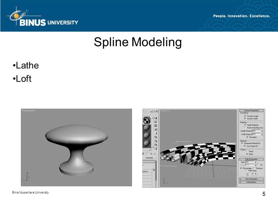 Bina Nusantara University 5 Spline Modeling Lathe Loft