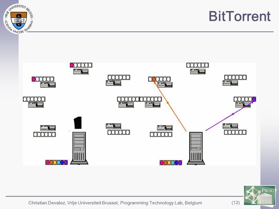 Christian Devalez, Vrije Universiteit Brussel, Programming Technology Lab, Belgium (12) BitTorrent
