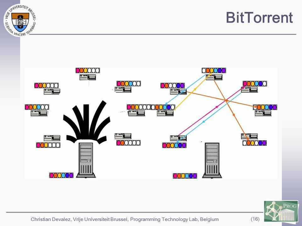 Christian Devalez, Vrije Universiteit Brussel, Programming Technology Lab, Belgium (16) BitTorrent