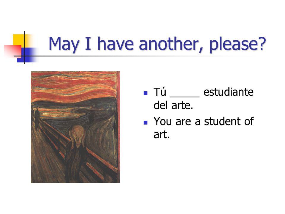 The envelope, please… Yo soy estudiante del teatro.