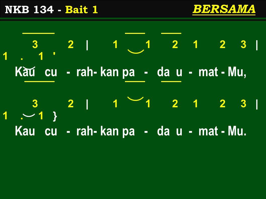 3 2 | 1 1 2 1 2 3 | 1.1 Kau cu - rah- kan pa - da u - mat - Mu, 3 2 | 1 1 2 1 2 3 | 1.