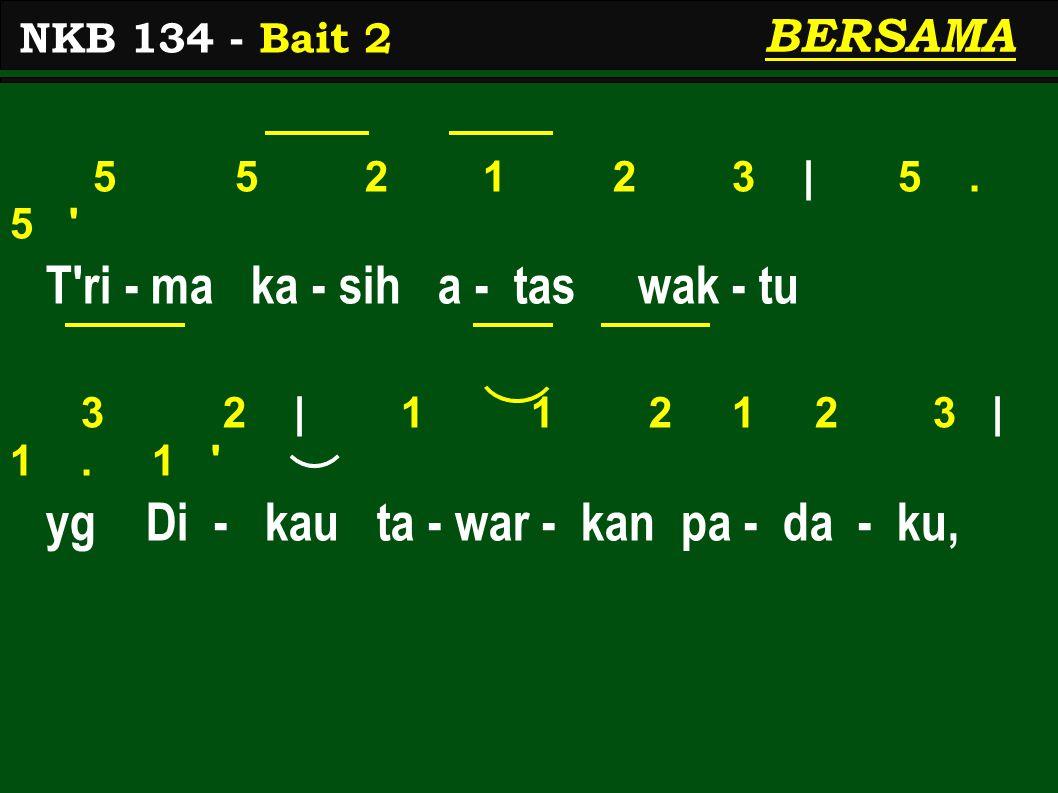 5 5 2 1 2 3 | 5.5 T ri - ma ka - sih a - tas wak - tu 3 2 | 1 1 2 1 2 3 | 1.