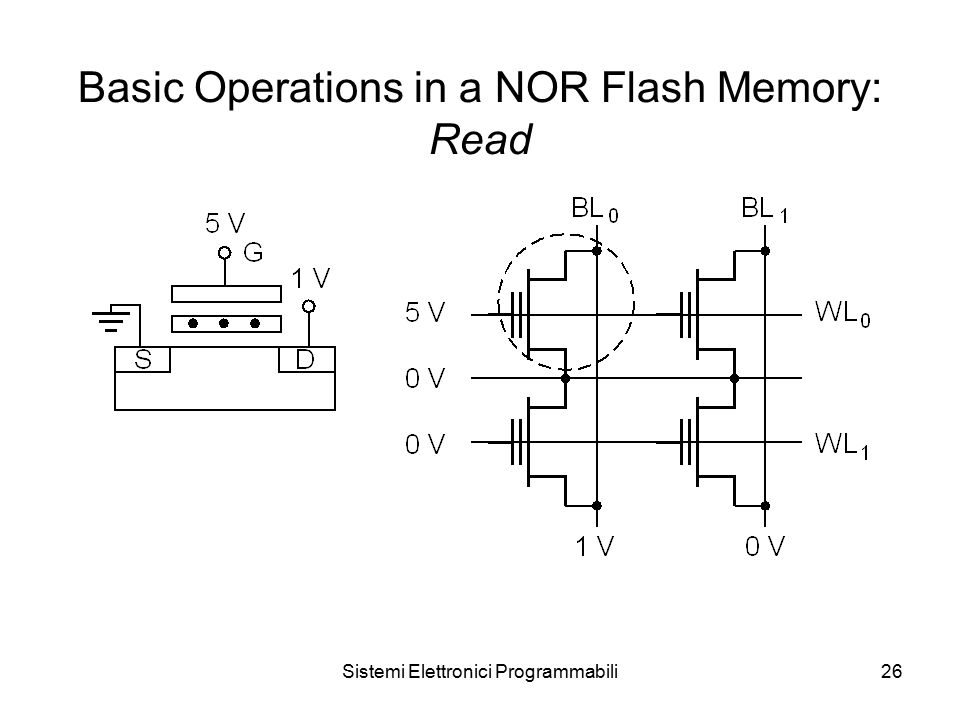 Sistemi Elettronici Programmabili26 Basic Operations in a NOR Flash Memory: Read