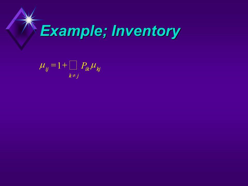 Example; Inventory  ijikkj kj P    1