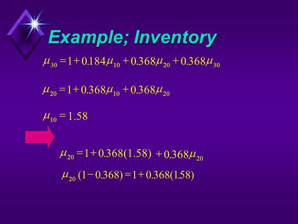 Example; Inventory   20 10368(1.58) 0368  ..  30102030 1018403680 ...  201020 103680 ..  10  1.58  20 1036810 158(.).(.) 